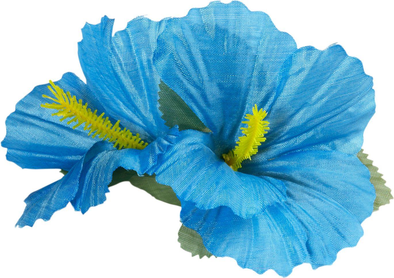 Lichtblauwe bloemen haarclip