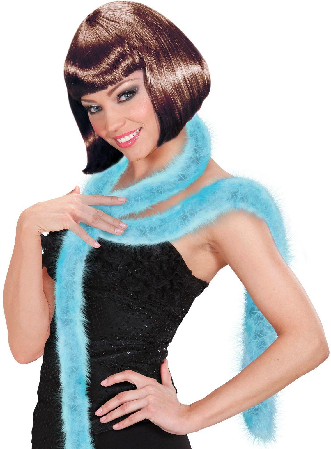 Lichtblauwe marabou boa