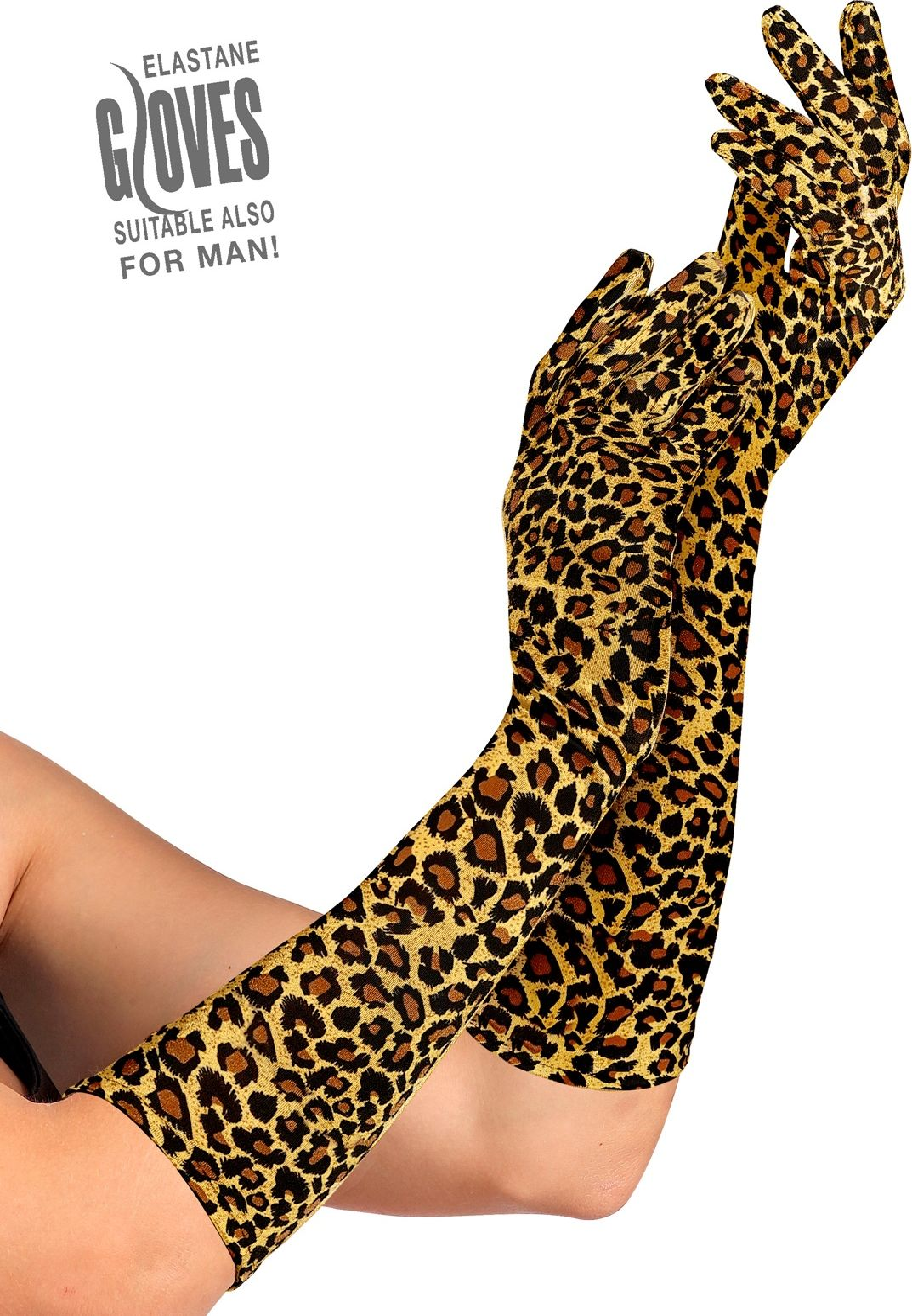 Luipaard print handschoenen