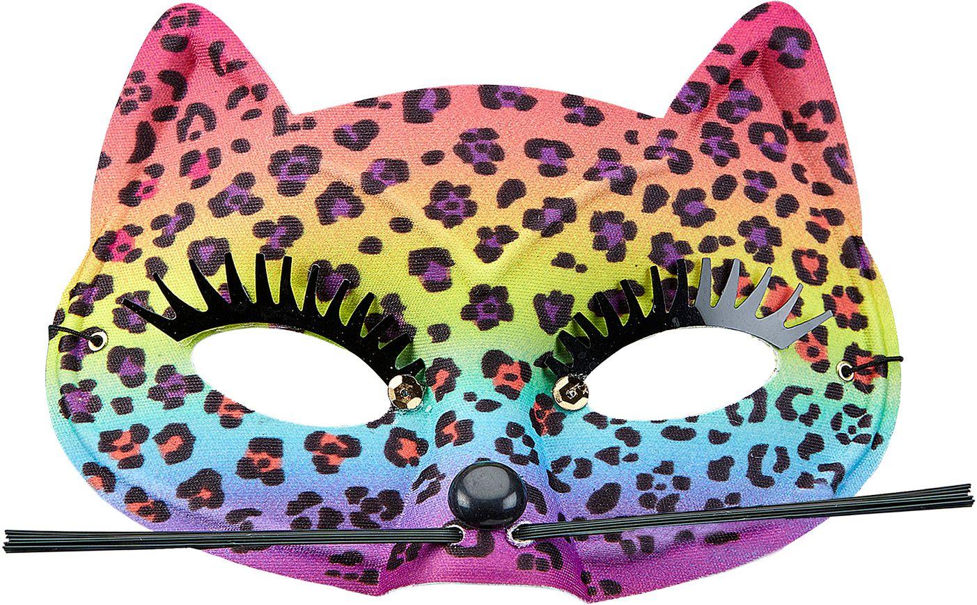 Luipaard print regenboog oogmasker