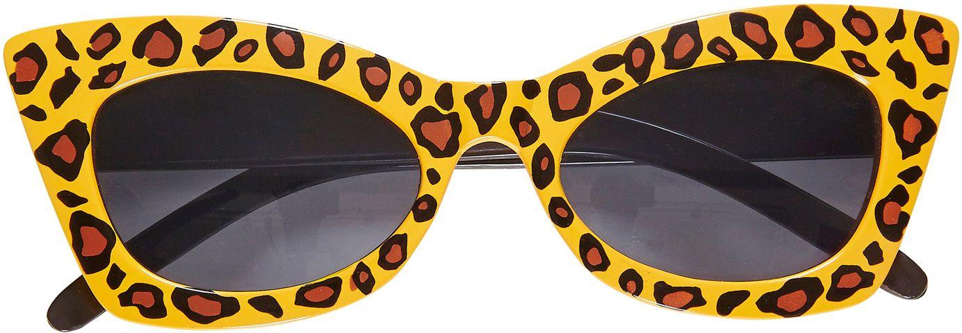 Luipaard print rockabilly bril