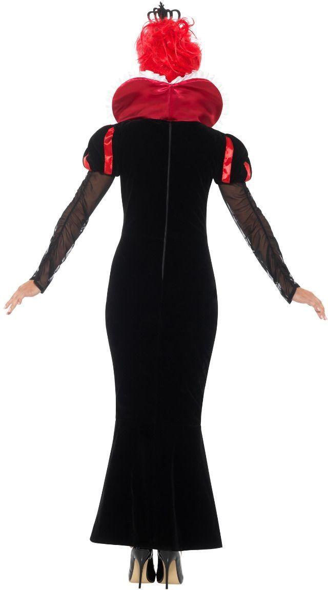 Luxe barok rode koningin kostuum