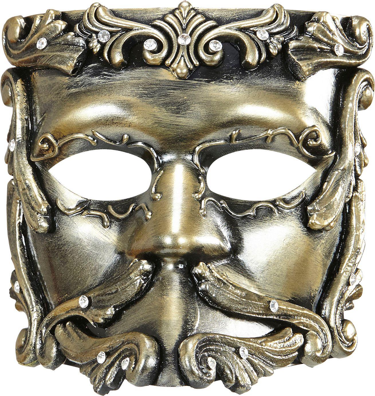 Luxe bronzen barok oogmasker