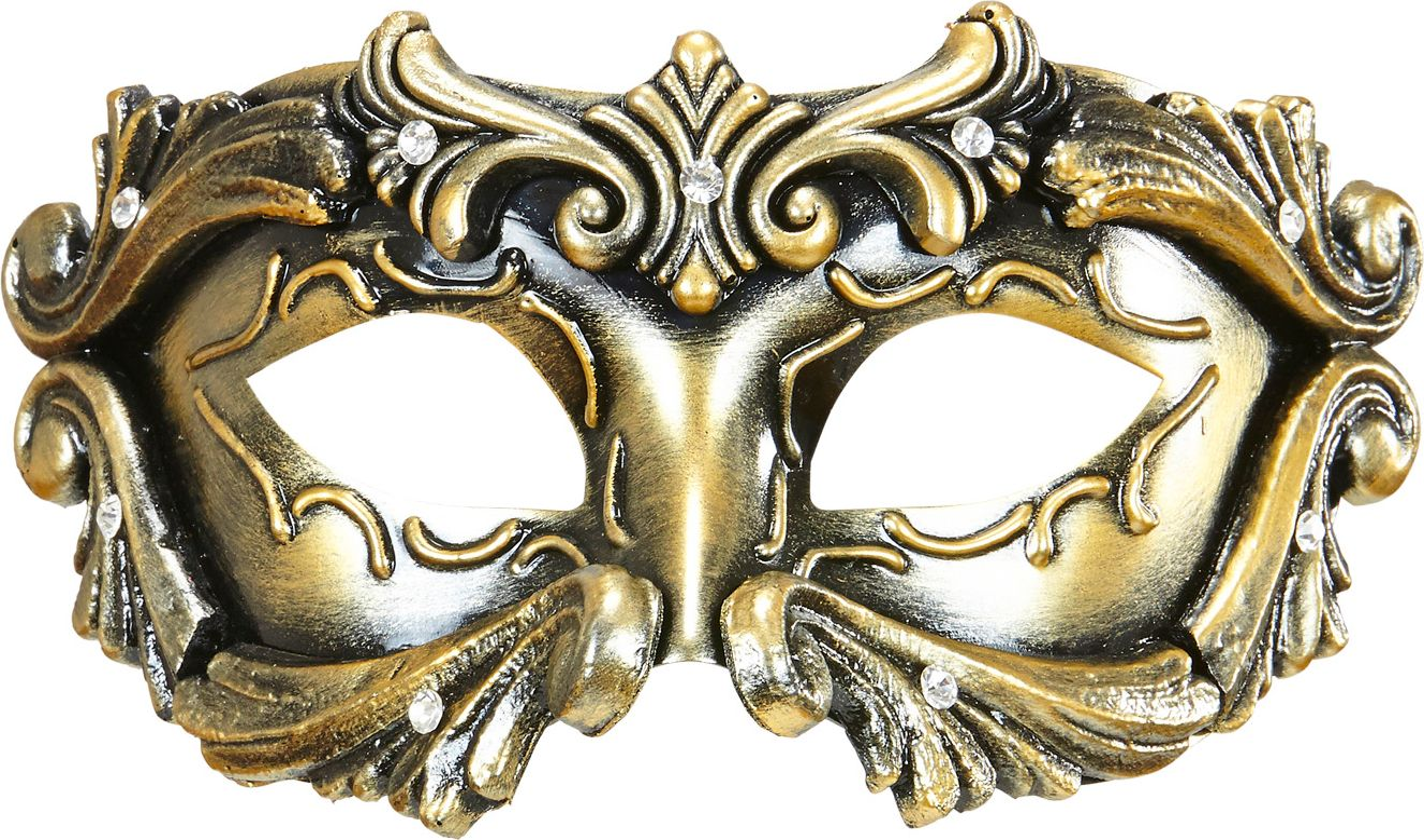 Luxe bronzen barones oogmasker