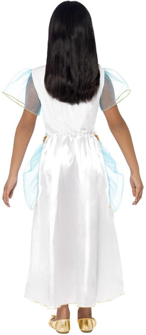 Luxe cleopatra meisjes jurk wit