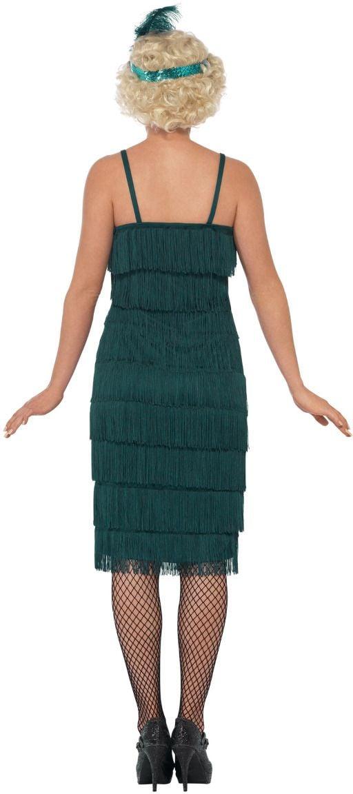 Luxe flapper jurk groen
