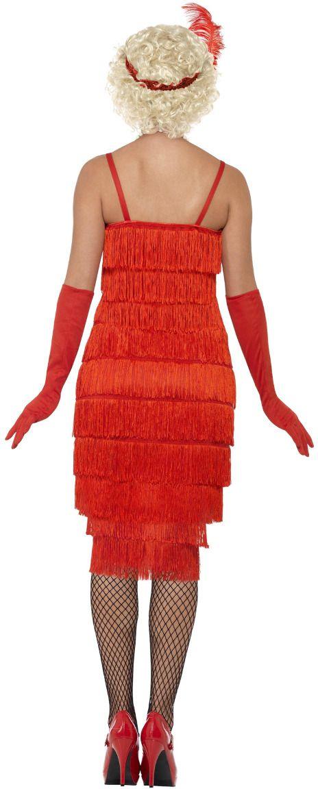 Luxe flapper jurk rood