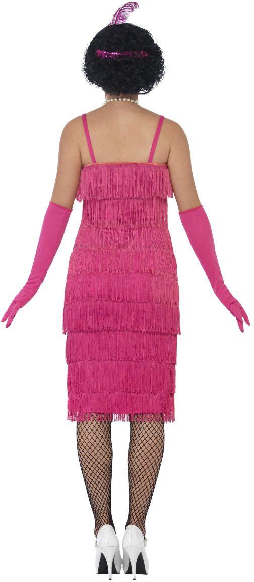 Luxe flapper jurk roze