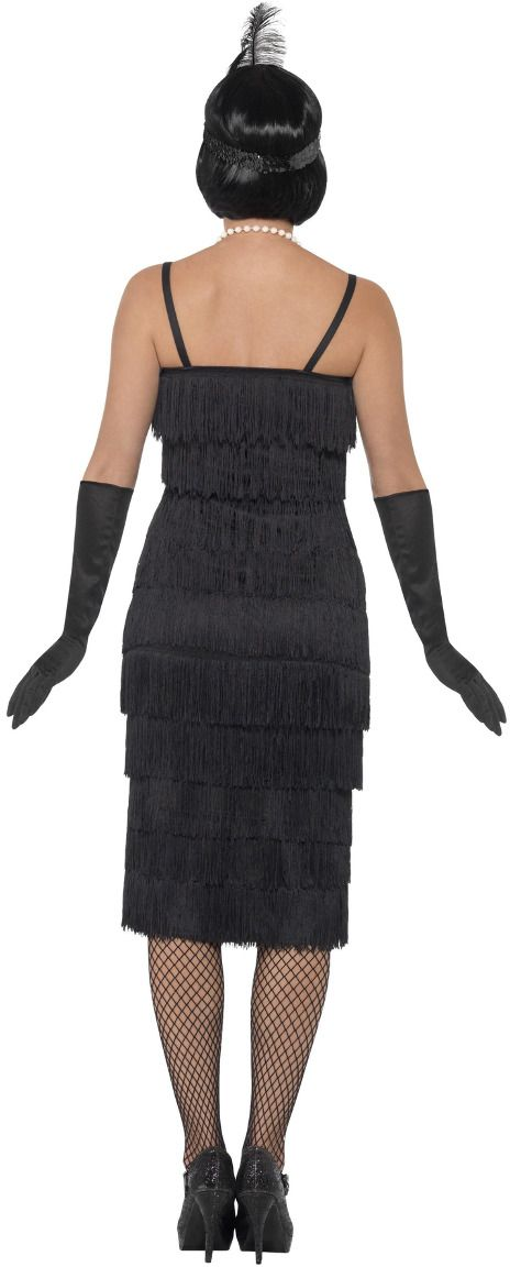 Luxe flapper jurk zwart