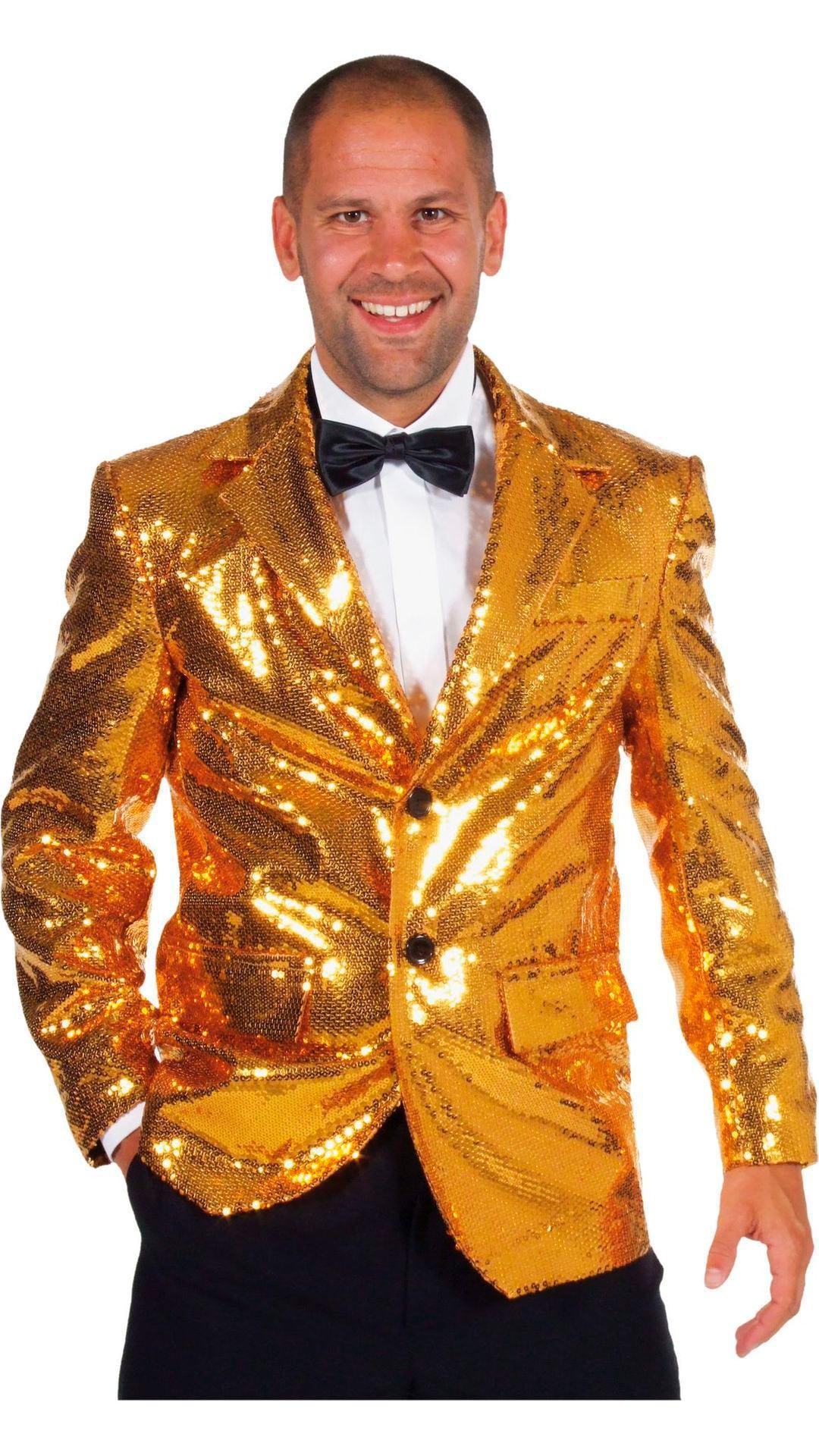 Luxe gouden colbert heren