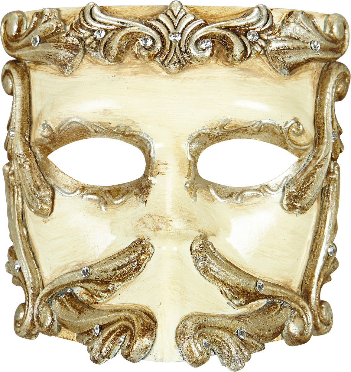 Luxe ivoren barok oogmasker