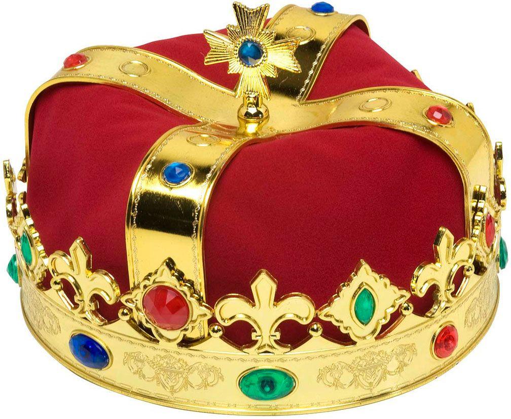 Luxe rode koningskroon