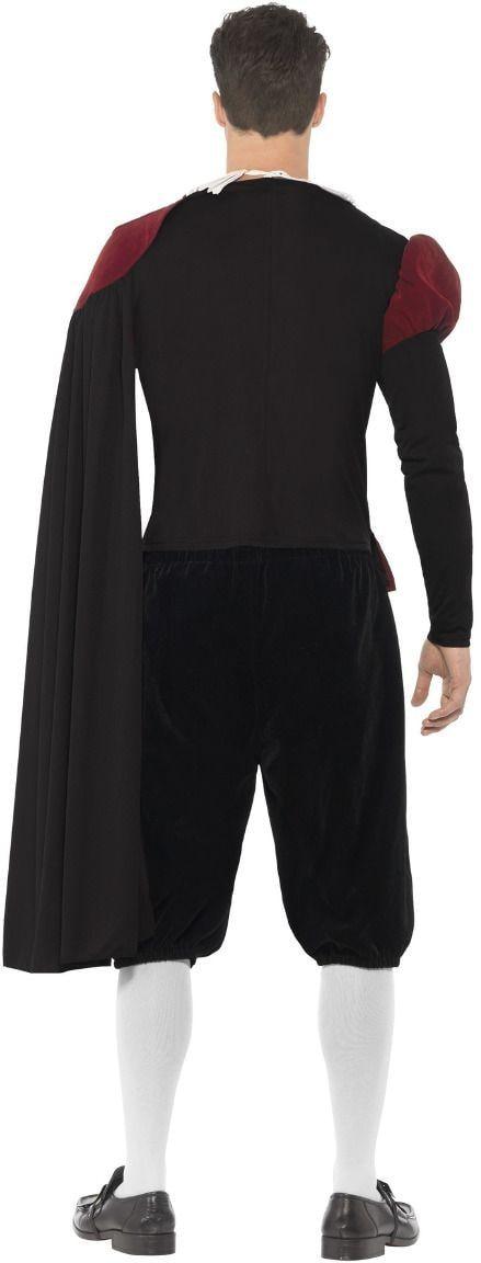 Luxe tudor kostuum zwart