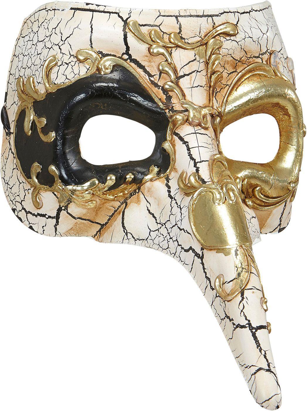Luxe venetiaans masker met lange neus
