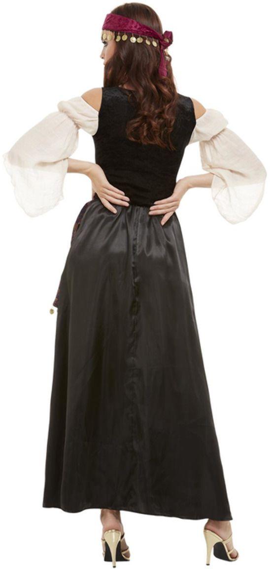 Luxe waarzegster kostuum zwart
