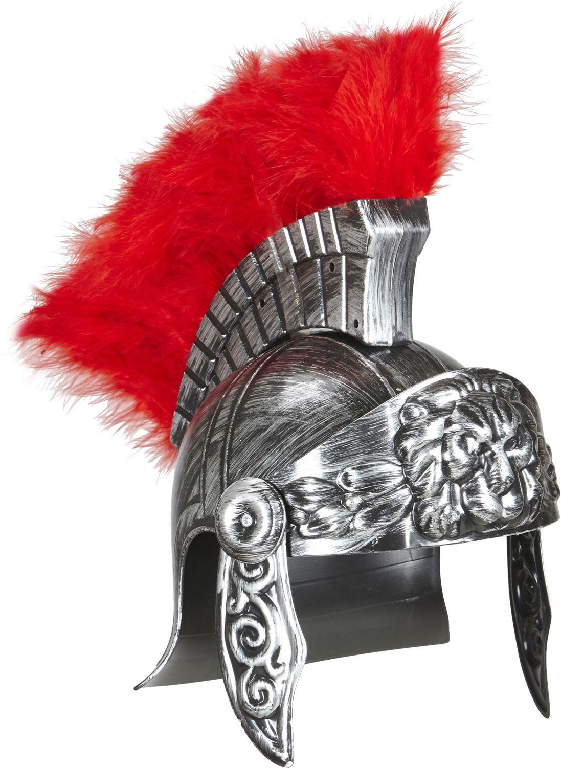 Luxe zilveren romeinse centurion helm