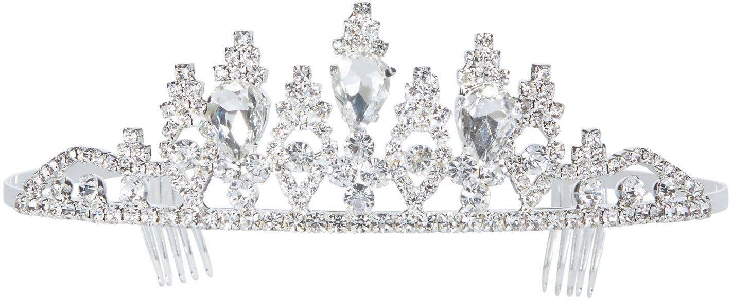 Luxe zilveren strass tiara