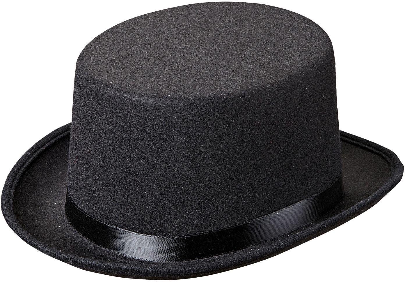 Luxe zwarte hoge hoed