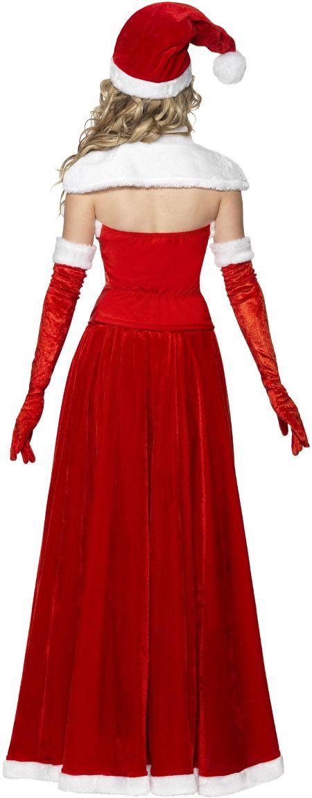 Luxueuze kerstvrouw jurk