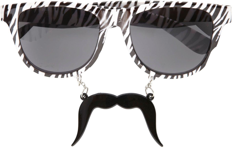 Macho bril met snor