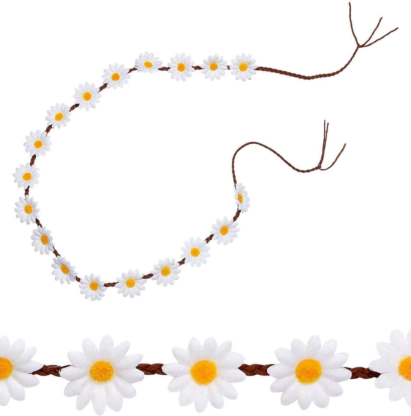 Madeliefjes bloemen haarband
