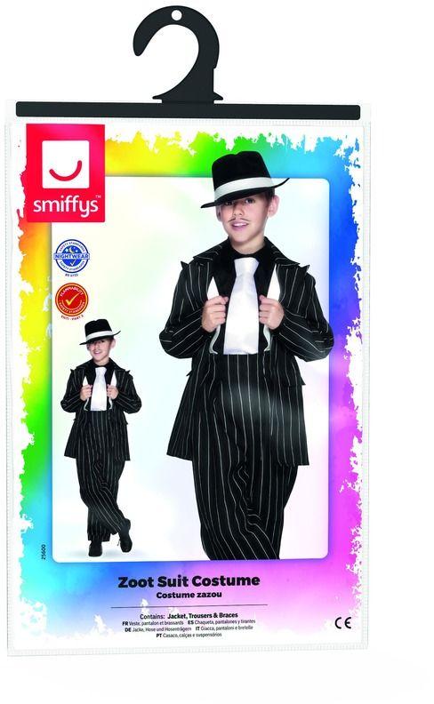 Maffia gangster zwart jongens kostuum