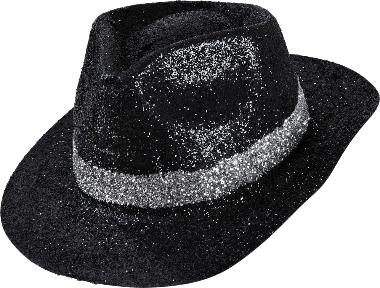 Maffia glitter hoed met band
