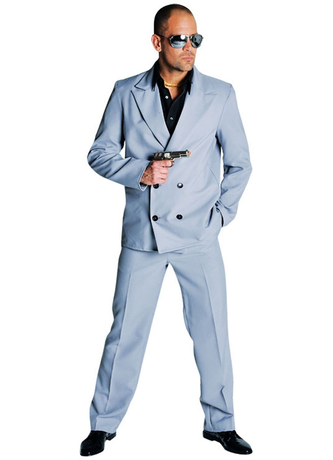 Maffia kostuum grijs heren