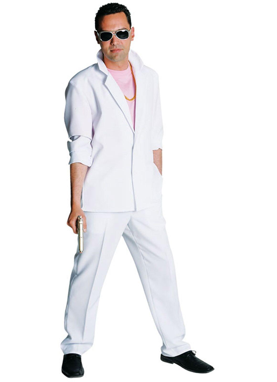 Maffia kostuum wit heren