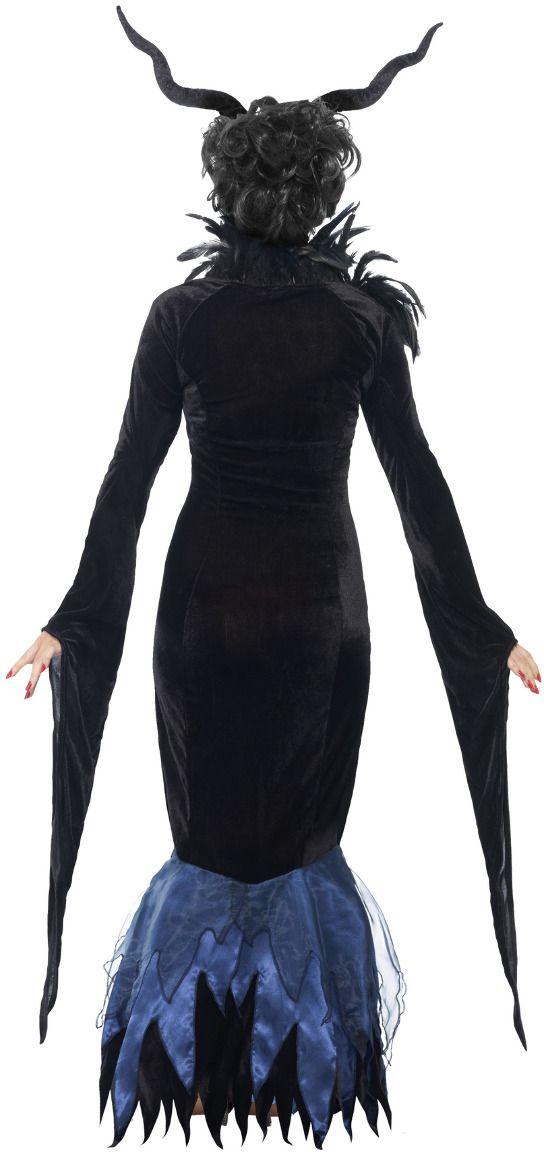 Maleficent zwart vrouwen kostuum