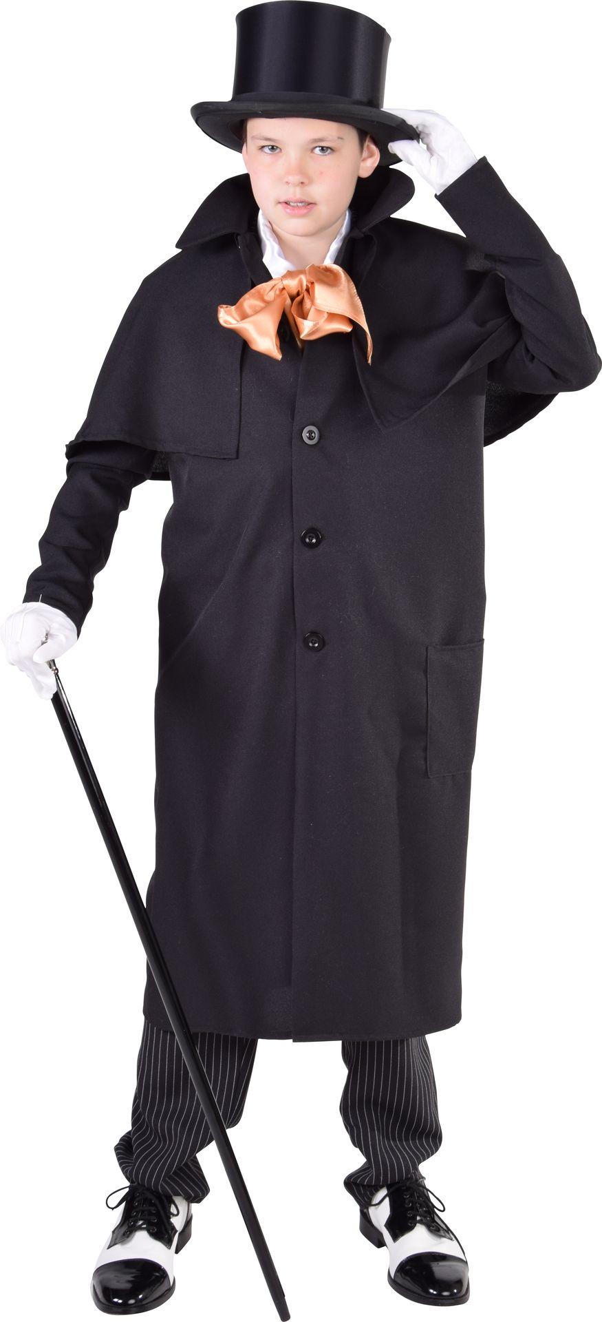 Mantel steampunk jongen zwart