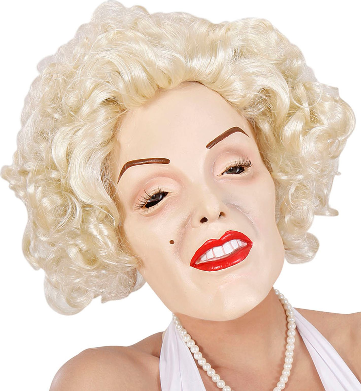 Marilyn Monroe masker met haar