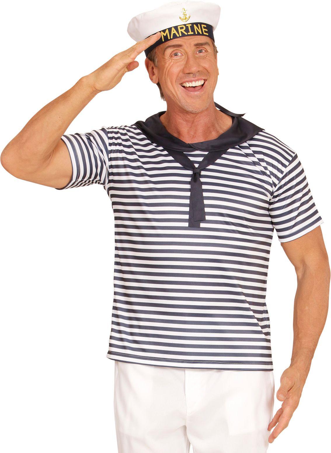 Marine shirt en hoed
