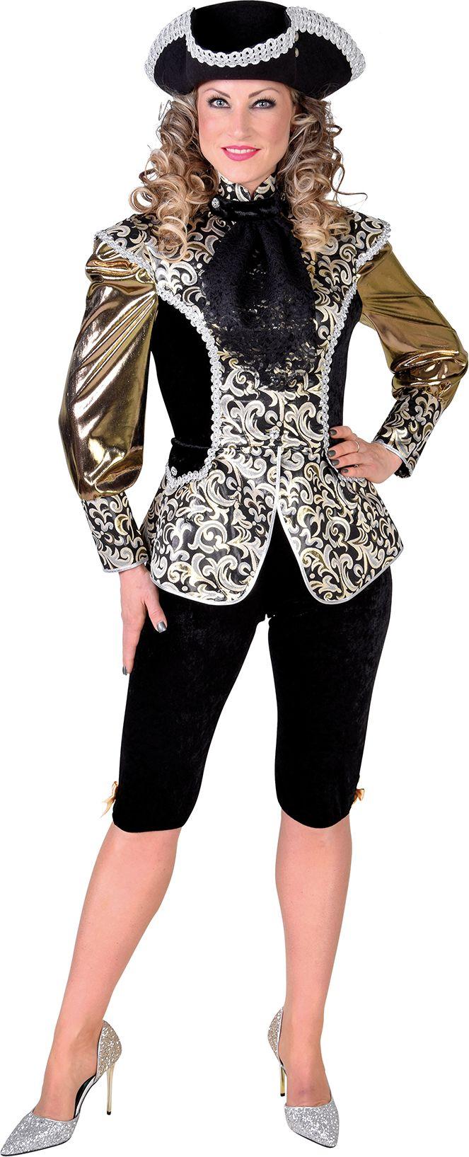 Markies outfit goud vrouw