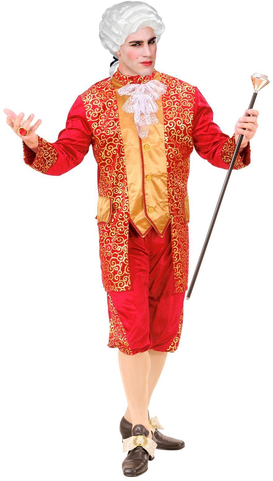 Markies rood kostuum