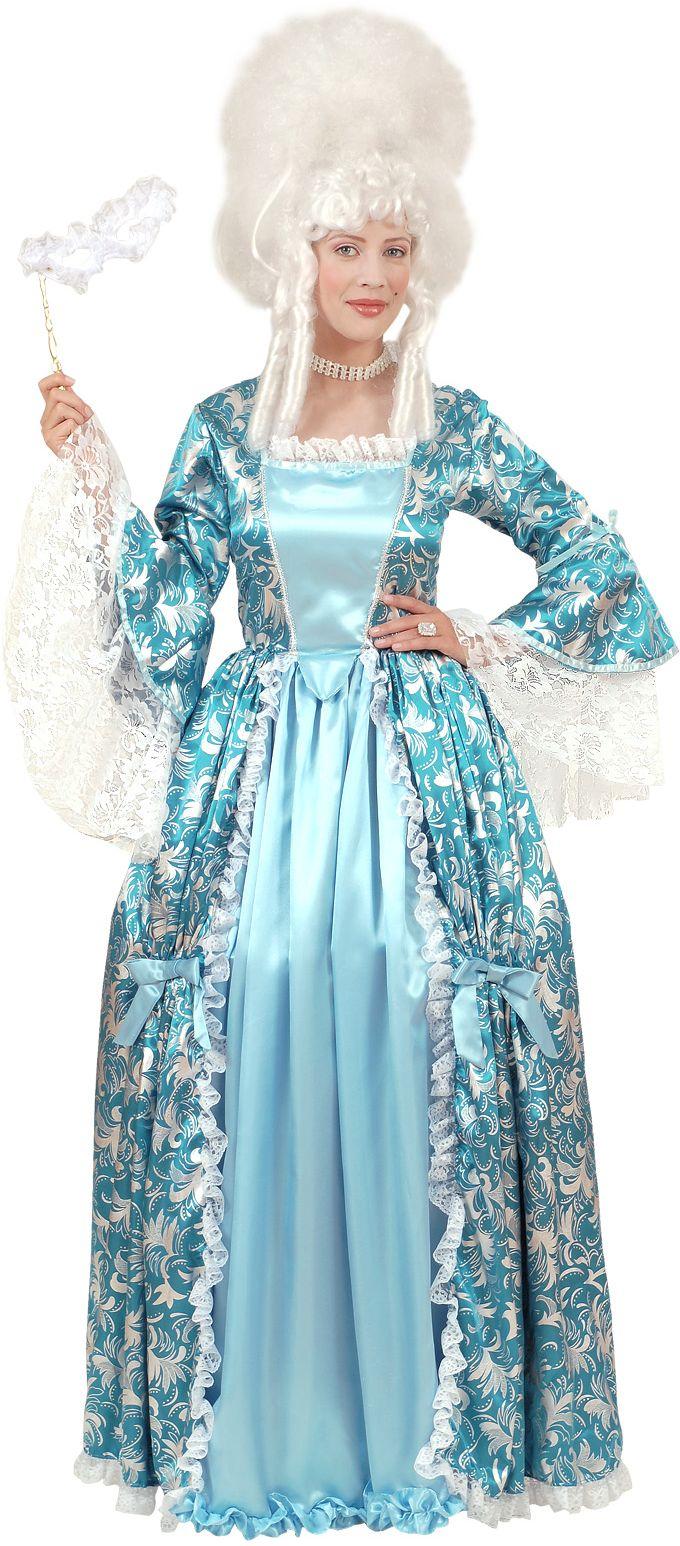 Markiezin blauw zilver kostuum