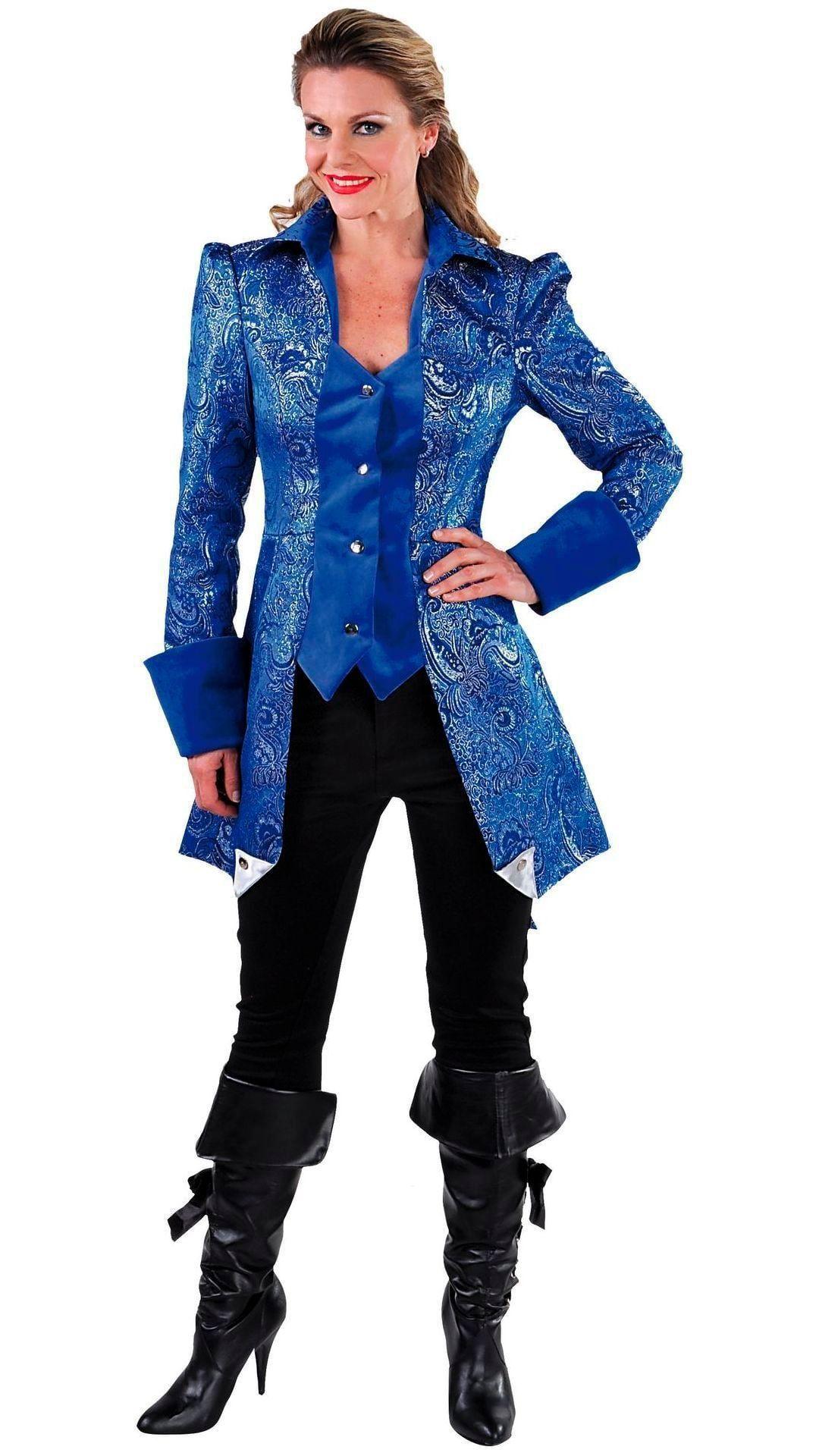Markiezin jas blauw dames
