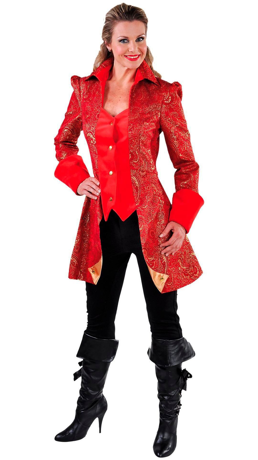 Markiezin jas rood dames