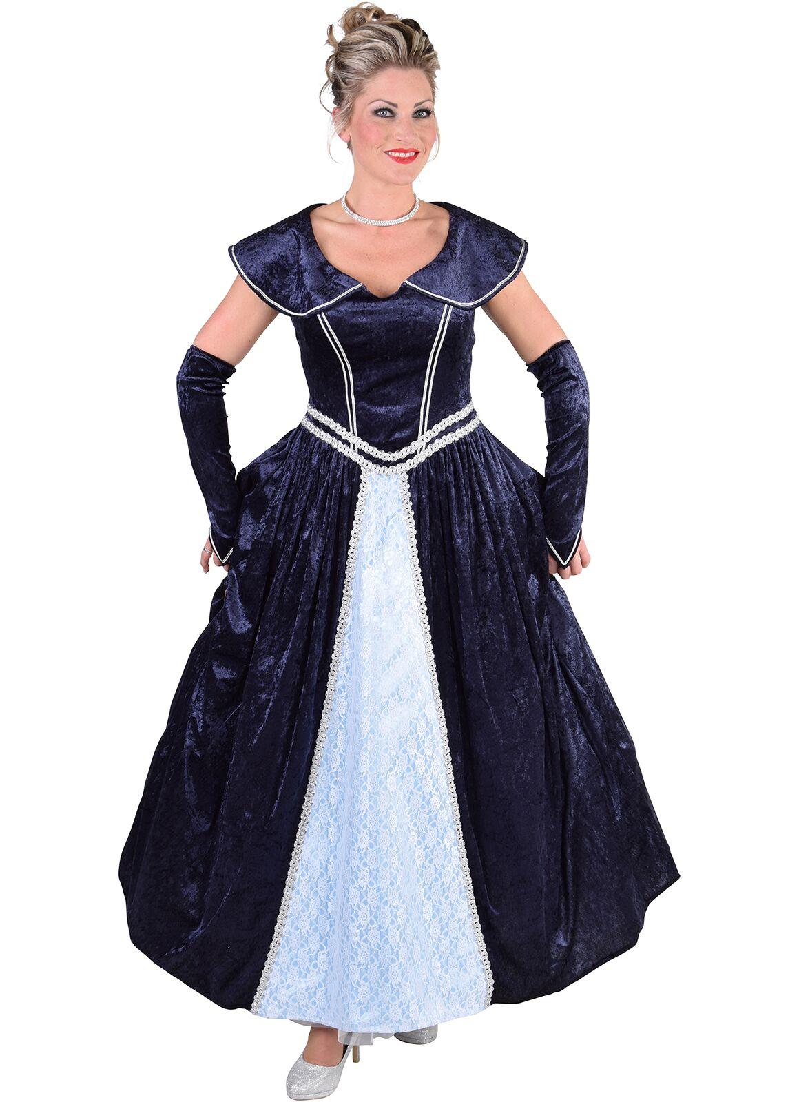 Markiezin jurk blauw dames