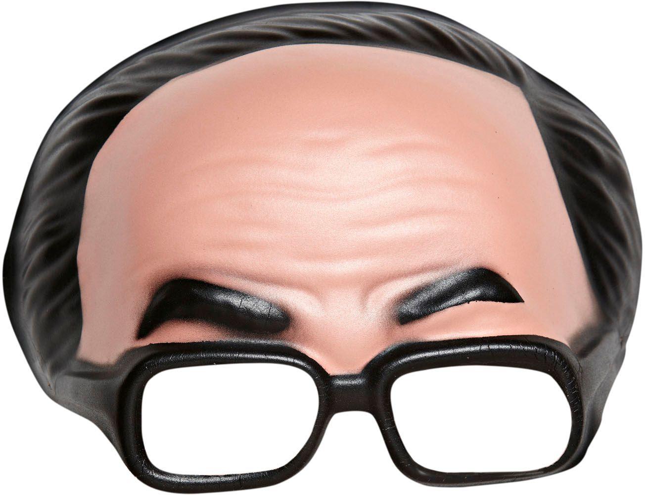 Masker met bril en zwarte haarlijn