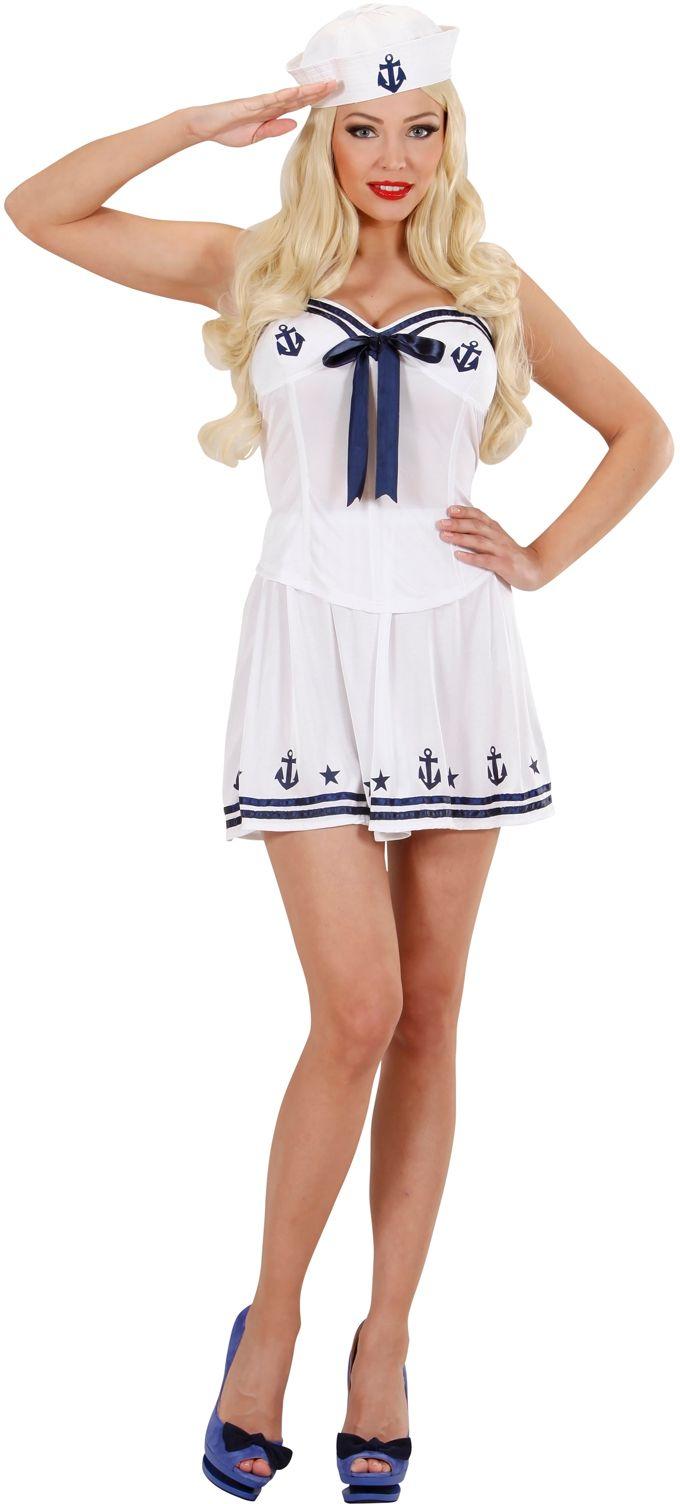 Matrozen meisje marine kostuum