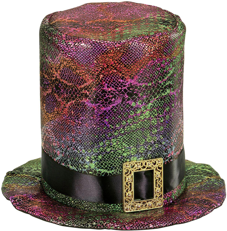 Meerkleurige gothic hoge hoed