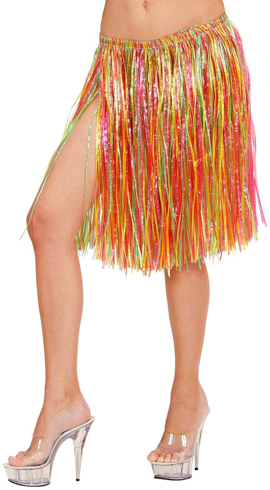 Meerkleurige hawaii stro rokjes