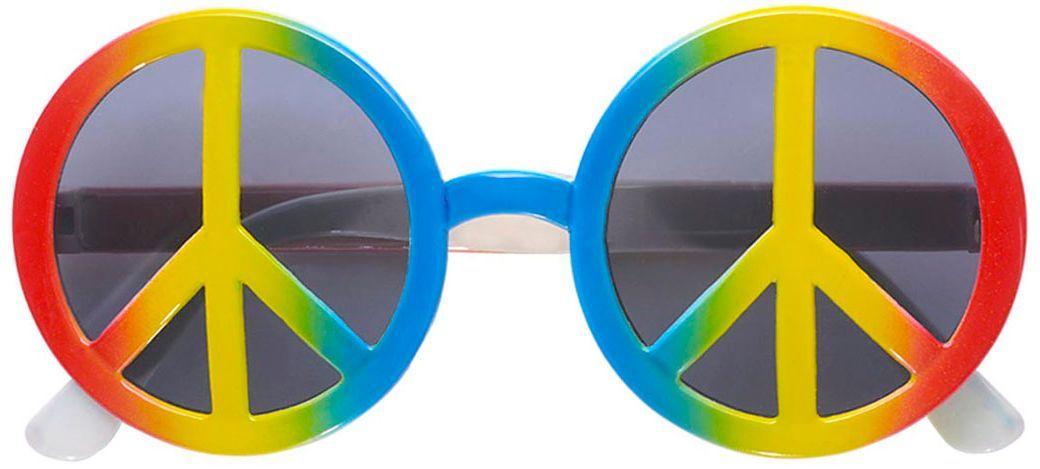 Meerkleurige hippie bril