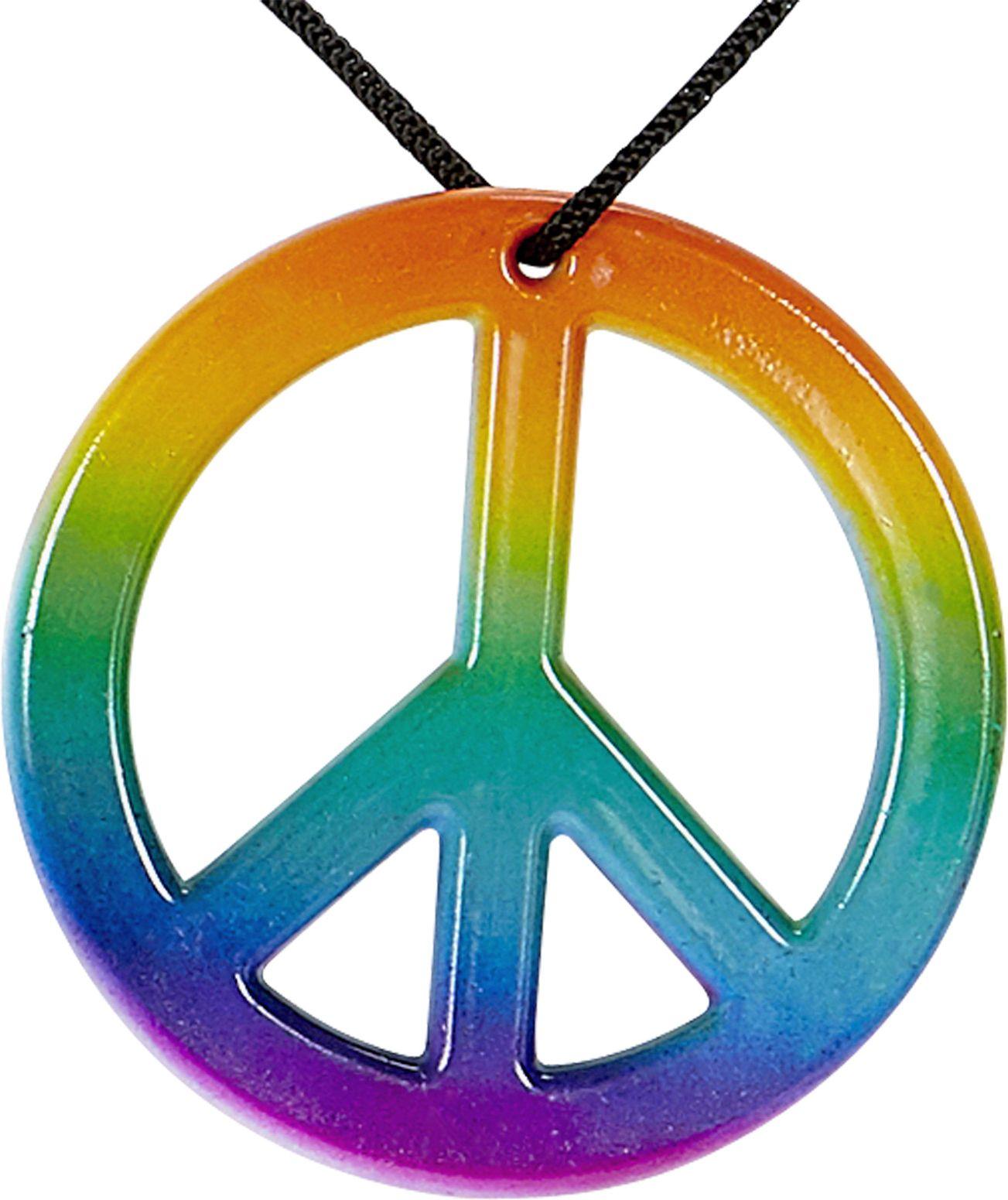 Meerkleurige hippie ketting