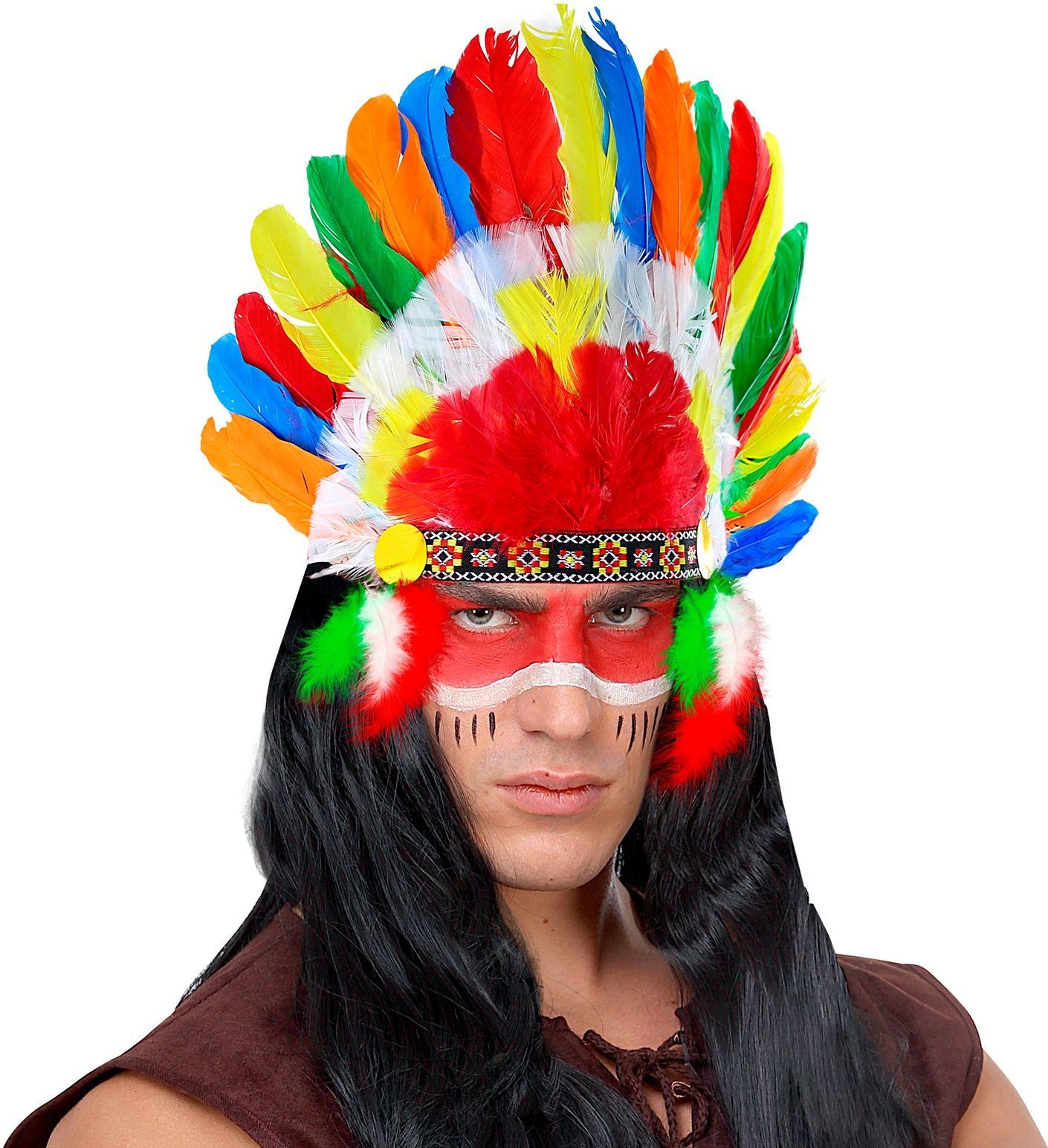 Meerkleurige indianen hoofdtooi
