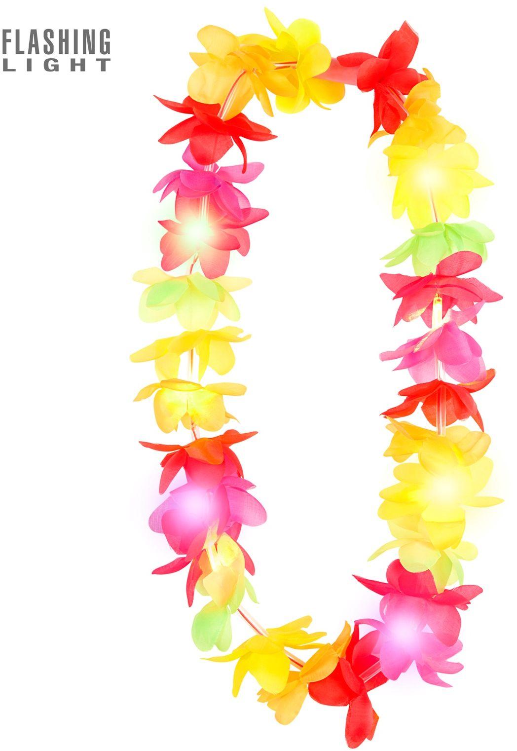 Meerkleurige lichtgevende Hawaii slinger