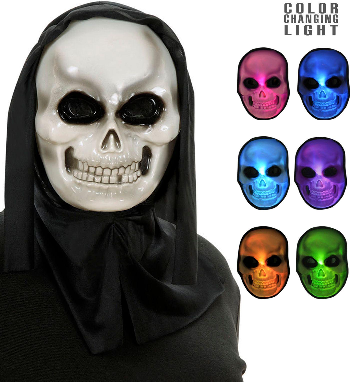 Meerkleurige lichtgevende schedel masker