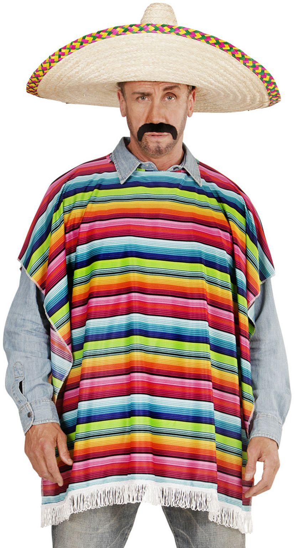 Meerkleurige mexicaanse poncho