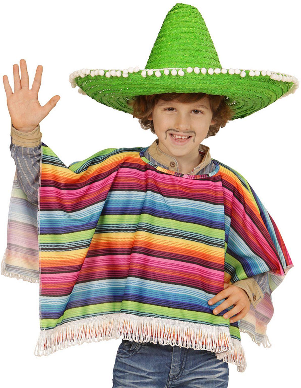 Meerkleurige mexicaanse poncho kind